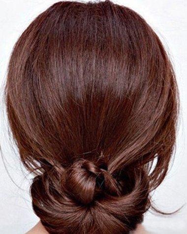 办公室气质盘发发型步骤 韩式夏天盘发发型