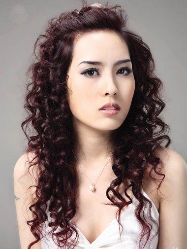 卷发发型图片图片