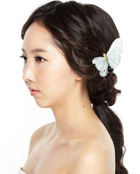 新娘长发如何盘 韩式新娘长发盘发