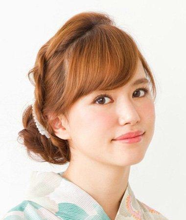 圆脸适合的盘发发型图片 韩式圆脸盘发发型