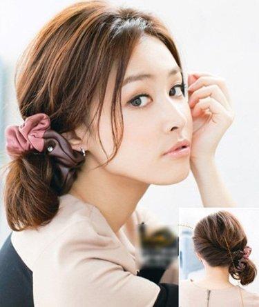 中年妇女盘头图片