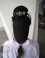 自己如何盘古装头发 简单学习古代盘头发