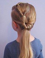 儿童中发发型绑扎方法 儿童简单发型扎法步骤