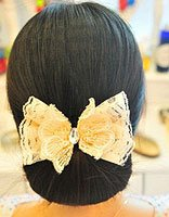 职业直发盘发发型扎法 适合40-45岁职业女性盘的发型