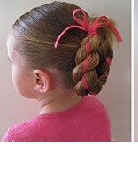 儿童少女盘头过程和步骤 少女简单盘发步骤