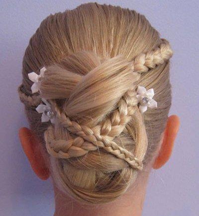 怎样给儿童盘发型 儿童长发盘发发型扎法图解