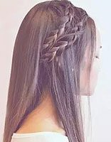 圆脸扎发型图片的步骤 圆脸适合的扎头发发型