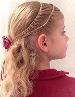 长发女孩编头发步骤 六岁女孩扎编头发方法图片大全