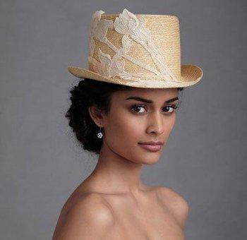 适合晚宴戴帽子的发型 漂亮的晚宴发型图片