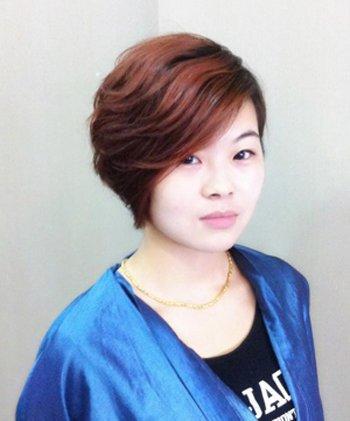 2016年圆脸中分发型 圆脸适合的中分发型图片[圆脸]-圆脸卷发发型