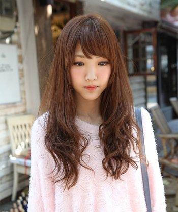 中长发有纹理烫么 黑色中长发纹理烫发型图片