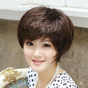 中年胖圆脸配什么样的发型 2017圆脸中年女性短发发型图片
