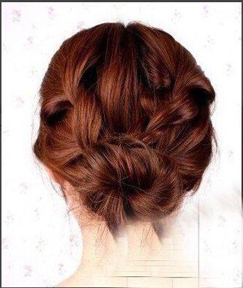 长发编辫子发型图解 两侧编辫子合在一起的发型设计