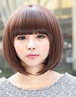 圆脸矮个有点胖适合什么发型 矮个圆脸清新直发发型