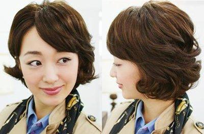 中老年女性短发发型 韩国时尚老年发型图片