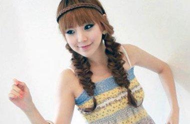 韩式鱼尾发型设计图片 长发鱼尾辫扎发发型