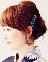 包包发型的扎发方法 头顶包包发型扎发图解