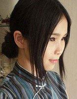 直发自己盘简单发型图解 适合长发大脸的盘发发型