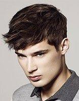 男生国字脸卷发发型 男士卷发短发发型图片