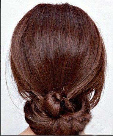 直发最简单的花苞头 2017最新直发盘花苞头发型图解