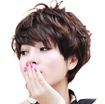 中年女性发型设计 中年女性纹理短发发型图片