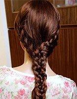 小女孩编辫子发型 长头发辫子发型扎法步骤