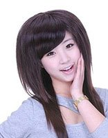 非主流直发蓬松发型女生图片 非主流蓬松长直发发型