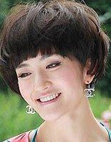 中学生短发发型女蘑菇 适合女中学生的蘑菇头发型图片