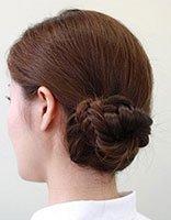 紧花苞头的扎法图解 低扎花苞头发型设计