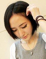 脸大适合什么短发型 大脸短发直发发型图片
