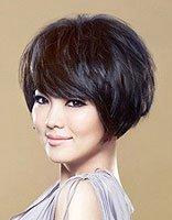 圆脸中年女性蘑菇发型 圆脸蘑菇头短发发型图片