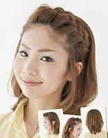 学生短头发马尾辫的新扎法 短发怎么扎适合学生的头发