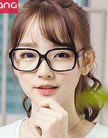 长脸型适合适合的发型以及近视眼镜 2017流行长脸发型