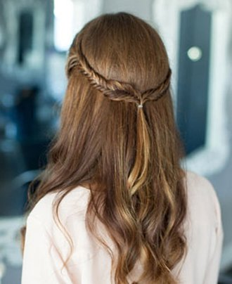 长发双鱼尾辫子发型扎法步骤 鱼尾辫发型扎法图解图片