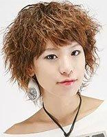 短发沙宣玉米烫发型 女士沙宣短发烫发发型