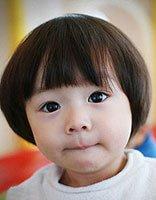 幼儿蘑菇头发型图片 女儿童蘑菇头发型