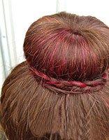 直发怎么盘花苞头发好看又简单 长直发花苞头的扎法图