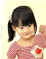 儿童单个马尾扎发 儿童马尾辫的简单扎发