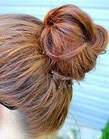 花苞头怎么扎 小女生高盘发花苞头的简单扎法图解