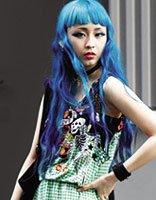 中长发怎么设计挑染 长发挑染紫色发型
