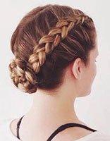 小女孩盘发发型 小女孩盘发发型图片