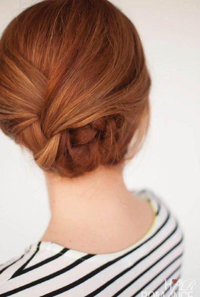 女士职业盘发发型 职业盘发发型图片解析