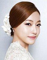 新娘染红色头发盘头效果好吗 新娘盘头发型