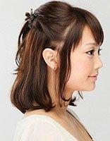 女孩短发怎么编头发 女孩短头发编发图片