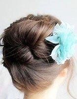 女孩简单盘头发型 女孩盘发发型教程