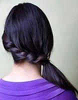 女生直发发型扎发图片 直发发型扎法步骤
