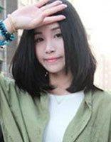 2017年冬季学生无刘海流行发型 中学生无刘海直发图片