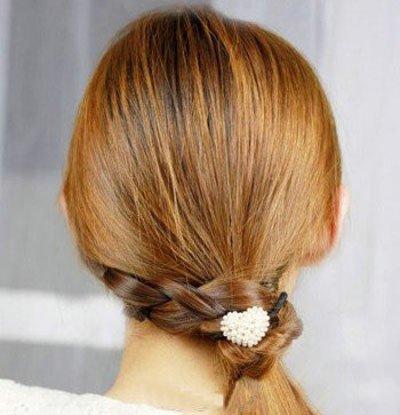 没有刘海出去玩怎么扎头发方便 没有刘海头发扎法