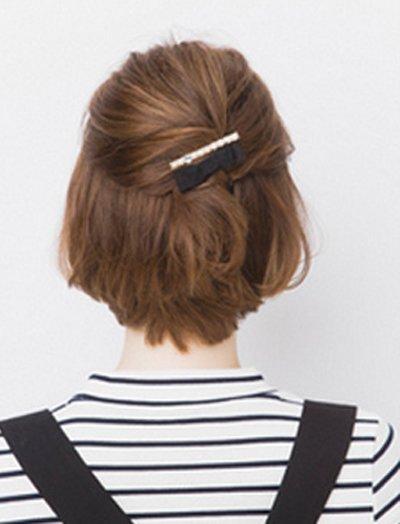 平刘海短发怎么扎 女士平刘海短发扎发方法