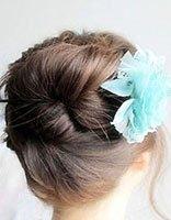 简单盘发发型图片大全 女人盘头的发型图片